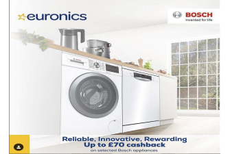 Up to £70 cashback on selected Bosch Products