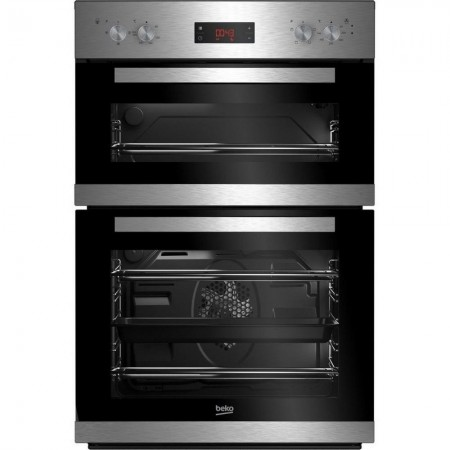 Beko CDF22309X Built In Electric Double Oven - Stainless Steel-2 Year Warranty