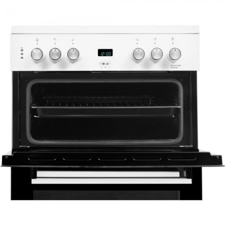 Beko EDC633W 60cm Double Oven Electric Cooker with Ceramic Hob -White