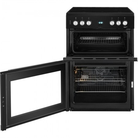 Beko EDC633K 60cm Double Oven Electric Cooker with Ceramic Hob - Black