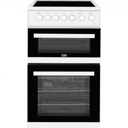 Beko EDVC503W 50cm Double Oven Electric Cooker
