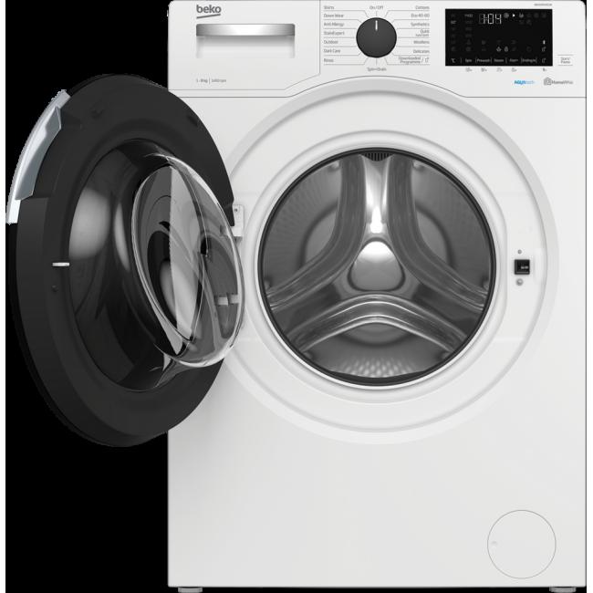 Beko WEC84P64E2W 8kg 1400 Spin Washing Machine with AquaTech