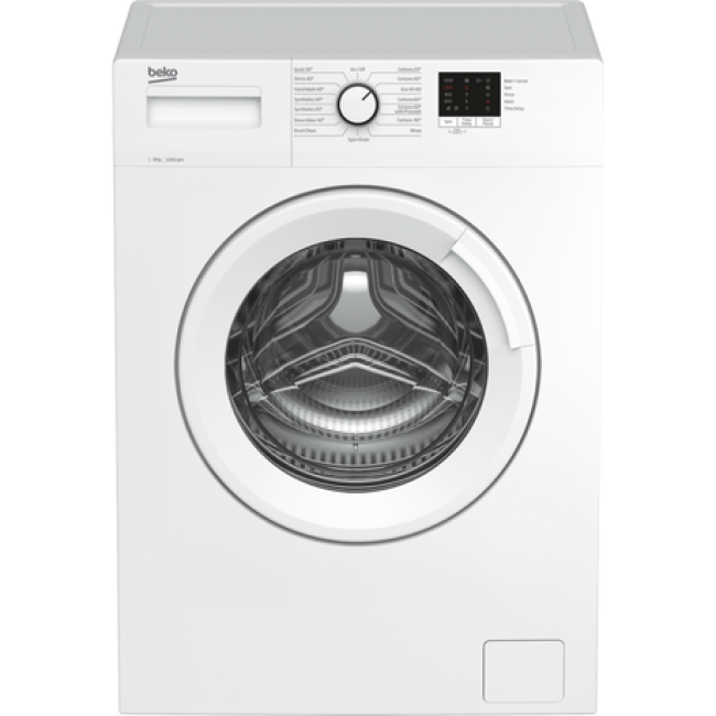 Beko WTK82041W 8kg 1200 Spin Washing Machine - White - A+++ Energy Rated