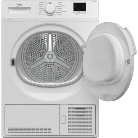 Beko DTLCE80041W 8kg Condenser Tumble Dryer - White - B
