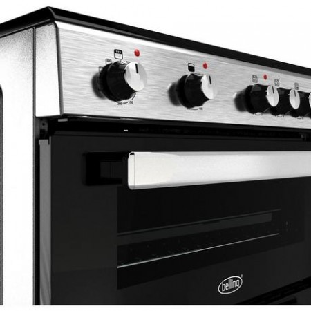 Belling FSE608DSIL 60cm Double Oven with Ceramic Hob – Silver