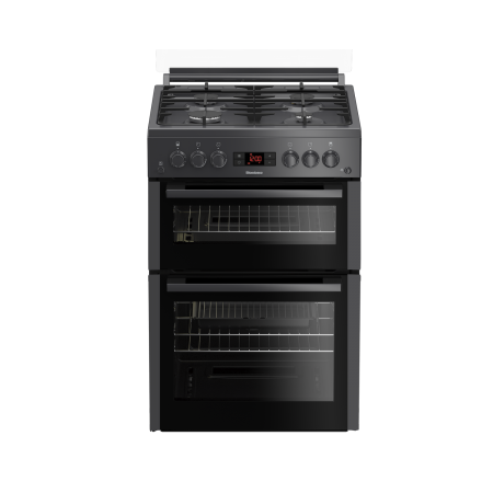 Blomberg GGN65N 60cm Double Oven Gas Cooker with Gas Hob - Anthracite - A+
