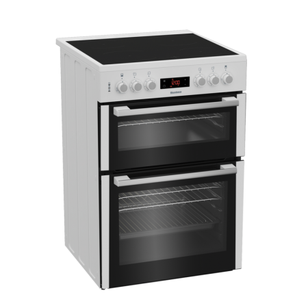 Blomberg HKN65W 60cm Double Oven Electric Cooker with Ceramic Hob - A Energy--3 Year Warranty