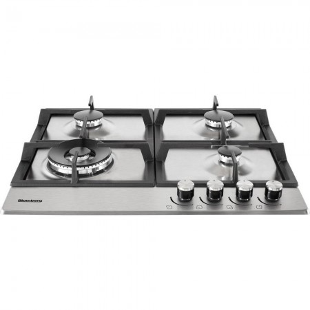 Blomberg GEN73415 60cm Gas Hob with  Wok Burner - Stainless Steel- 5 year Warranty