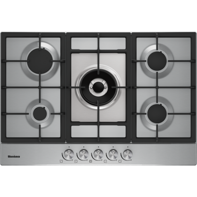 Blomberg GMB83512 75cm Gas Hob - Stainless Steel-5yr Warranty