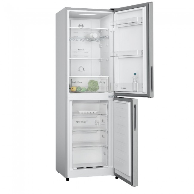 Bosch KGN27NLFAG 55cm Fridge Freezer - Silver - Frost Free--2 Year Warranty
