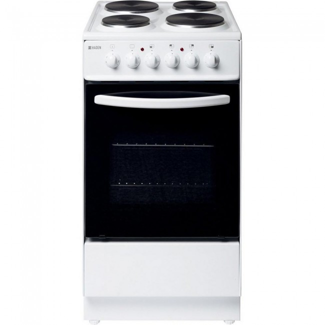 Haden HES50W 50cm Single Oven Electric Cooker - White