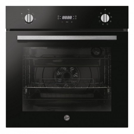 Hoover HOCT3058BI Integrated Electric Single Oven - Stainless Steel with Black glass doors