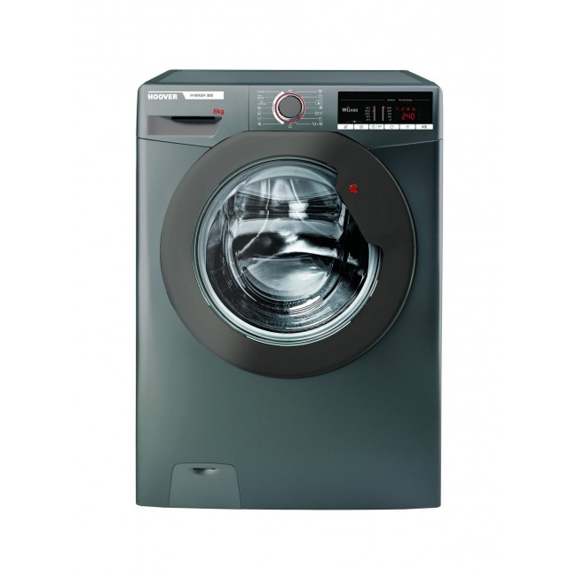 Hoover H3W58TGGE 8kg 1500 Spin Washing Machine - Graphite - A+++