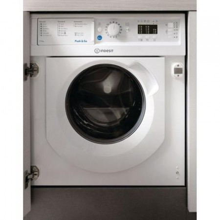 Indesit BIWDIL7125 Integrated 1200 Spin 7kg/5kg Dry Washer Dryer - White - B Energy Rated
