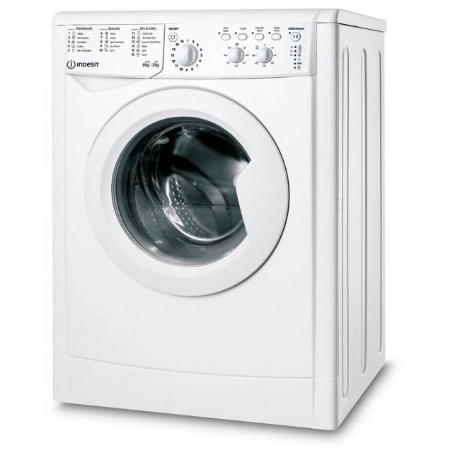 Indesit IWDC65125UKN 6kg/5kg 1200 Spin Washer Dryer