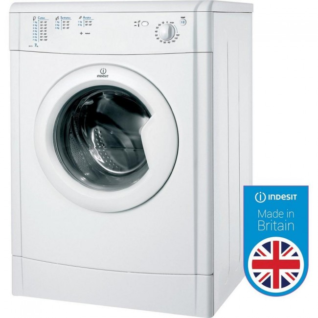 Indesit IDV75 Refresh Option Vented Tumble Dryer - White - B Energy Rated
