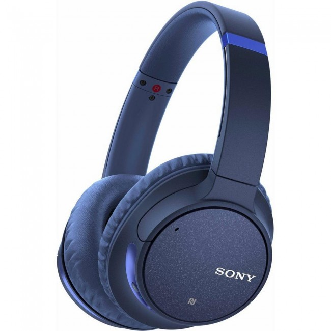 Sony WHCH700NLCE7 Headphones Blue Noise Cancelling Over Ear With Mic Remote