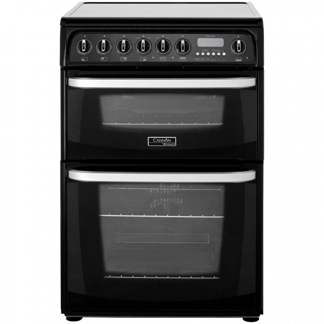 Hotpoint CH60EKKS 60cm Double Electric Cooker, B/B Energy Rating, Black
