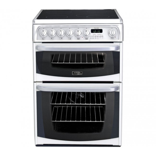 Hotpoint CH60EKWS 60cm Double Electric Cooker, B/B Energy Rating, White