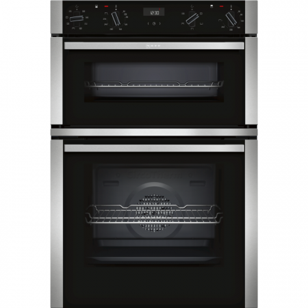 Neff U1ACE2HN0B Built-In Double Oven, Stainless Steel