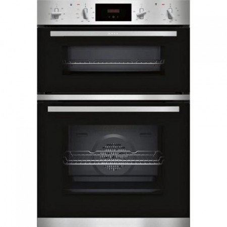 Neff U1GCC0AN0B Built In Electric Double Oven - Black & Steel -2yr warranty