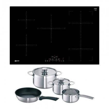 Neff T48FD23X2KIT 80cm Frameless Induction Hob -  Free Pan Set- 2 year warranty