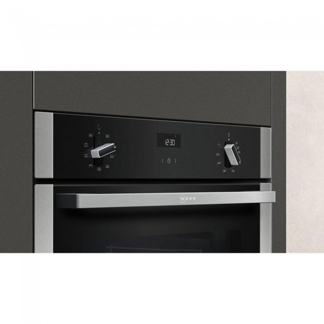 NEFF B1ACE4HN0B Electric  Single Oven - BLACK/STEEL - A Energy Rated 2 Year Warranty