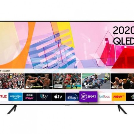 "Samsung QE50Q60TAUXXU 50"" QLED Smart TV - A Energy Rated 5 Year Warranty"