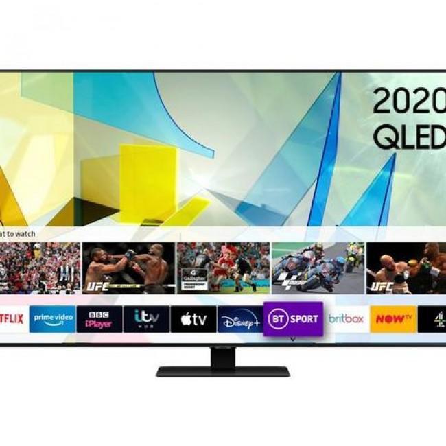 "Samsung QE49Q80TATXXU 49"" QLED Smart TV - B Energy Rated 5 Year Warranty"