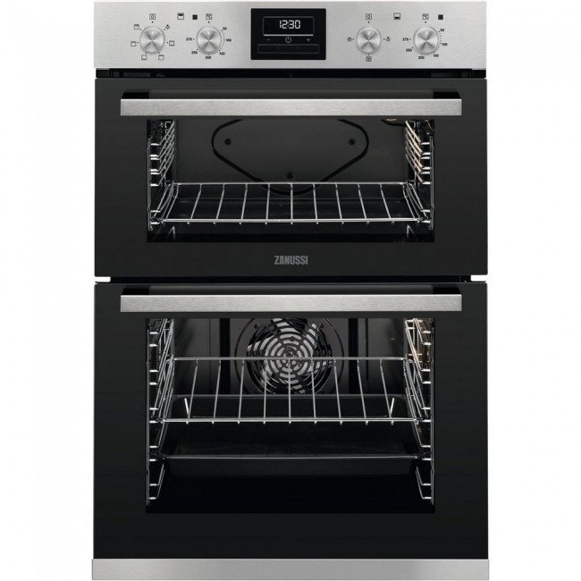 Zanussi ZOA35660XK Built In Electric Double Oven - Stainless Steel - A Energy Rated-2Yr Warranty