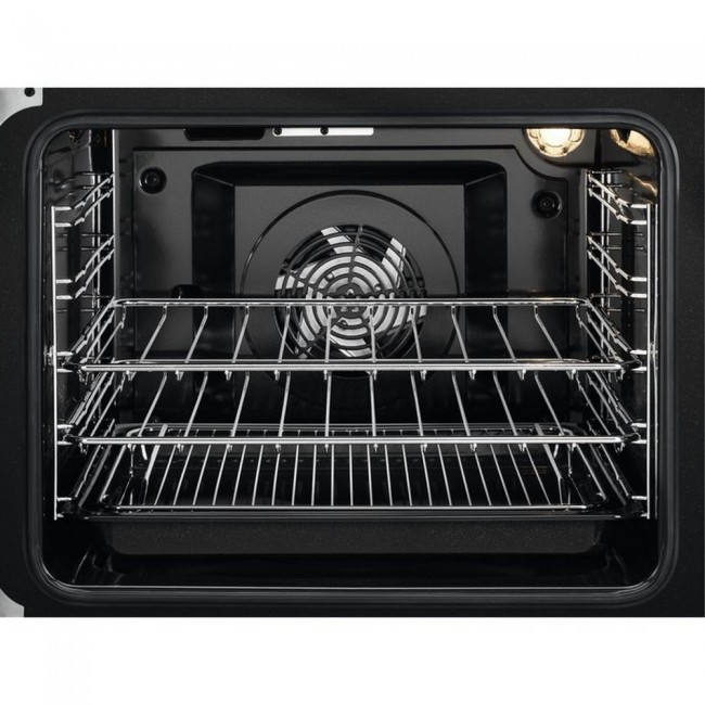 Zanussi ZCV46050WA 55cm Electric Double Oven with Ceramic Hob