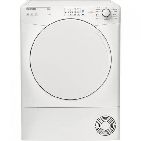 Hoover HLC8LF 8kg Sensor Dry Condenser Tumble Dryer - White - B Energy Rated